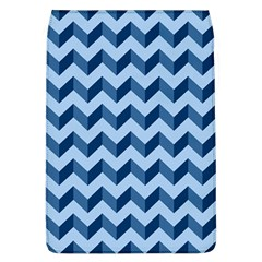 Tiffany Blue Modern Retro Chevron Patchwork Pattern Removable Flap Cover (large)