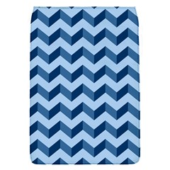 Tiffany Blue Modern Retro Chevron Patchwork Pattern Removable Flap Cover (small)