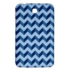 Tiffany Blue Modern Retro Chevron Patchwork Pattern Samsung Galaxy Tab 3 (7 ) P3200 Hardshell Case
