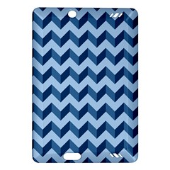 Tiffany Blue Modern Retro Chevron Patchwork Pattern Kindle Fire HD (2013) Hardshell Case