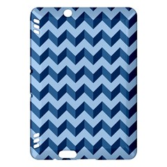 Tiffany Blue Modern Retro Chevron Patchwork Pattern Kindle Fire HDX Hardshell Case