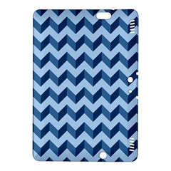 Tiffany Blue Modern Retro Chevron Patchwork Pattern Kindle Fire Hdx 8 9  Hardshell Case