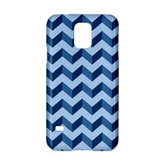 Tiffany Blue Modern Retro Chevron Patchwork Pattern Samsung Galaxy S5 Hardshell Case