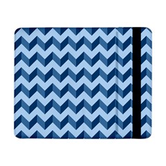 Tiffany Blue Modern Retro Chevron Patchwork Pattern Samsung Galaxy Tab Pro 8 4  Flip Case