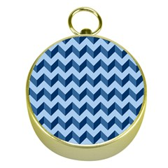 Tiffany Blue Modern Retro Chevron Patchwork Pattern Gold Compass