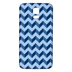 Tiffany Blue Modern Retro Chevron Patchwork Pattern Samsung Galaxy S5 Back Case (white)