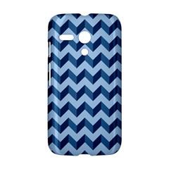 Tiffany Blue Modern Retro Chevron Patchwork Pattern Motorola Moto G Hardshell Case