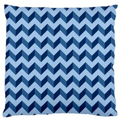 Tiffany Blue Modern Retro Chevron Patchwork Pattern Large Flano Cushion Case (two Sides)