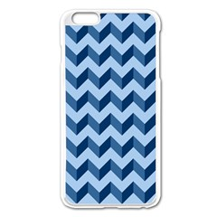 Tiffany Blue Modern Retro Chevron Patchwork Pattern Apple Iphone 6 Plus Enamel White Case