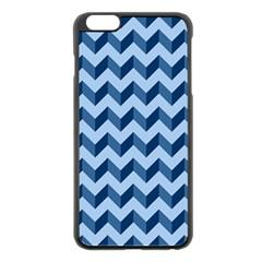 Tiffany Blue Modern Retro Chevron Patchwork Pattern Apple Iphone 6 Plus Black Enamel Case