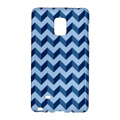Tiffany Blue Modern Retro Chevron Patchwork Pattern Samsung Galaxy Note Edge Hardshell Case