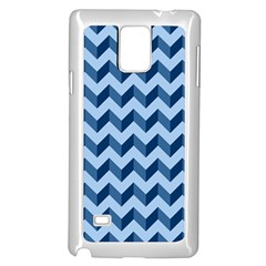 Tiffany Blue Modern Retro Chevron Patchwork Pattern Samsung Galaxy Note 4 Case (White)