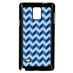 Tiffany Blue Modern Retro Chevron Patchwork Pattern Samsung Galaxy Note 4 Case (black)