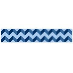 Tiffany Blue Modern Retro Chevron Patchwork Pattern Flano Scarf (Large)