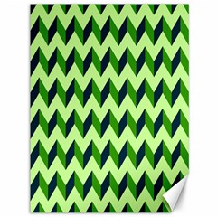 Green Modern Retro Chevron Patchwork Pattern Canvas 36  X 48  (unframed)