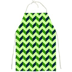 Green Modern Retro Chevron Patchwork Pattern Apron