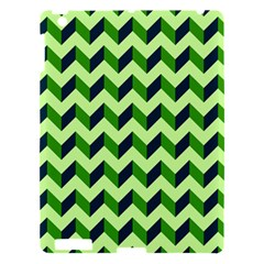 Green Modern Retro Chevron Patchwork Pattern Apple Ipad 3/4 Hardshell Case