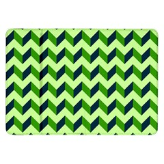 Green Modern Retro Chevron Patchwork Pattern Samsung Galaxy Tab 8 9  P7300 Flip Case