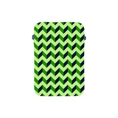 Green Modern Retro Chevron Patchwork Pattern Apple Ipad Mini Protective Sleeve