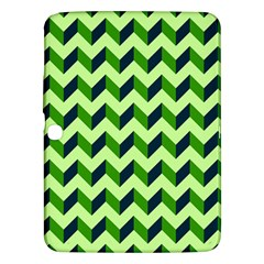 Green Modern Retro Chevron Patchwork Pattern Samsung Galaxy Tab 3 (10 1 ) P5200 Hardshell Case