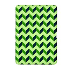 Green Modern Retro Chevron Patchwork Pattern Samsung Galaxy Tab 2 (10.1 ) P5100 Hardshell Case