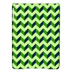 Green Modern Retro Chevron Patchwork Pattern Apple iPad Air Hardshell Case