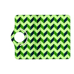 Green Modern Retro Chevron Patchwork Pattern Kindle Fire HD (2013) Flip 360 Case