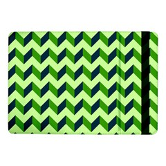 Green Modern Retro Chevron Patchwork Pattern Samsung Galaxy Tab Pro 10.1  Flip Case
