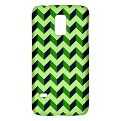 Green Modern Retro Chevron Patchwork Pattern Samsung Galaxy S5 Mini Hardshell Case