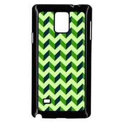 Green Modern Retro Chevron Patchwork Pattern Samsung Galaxy Note 4 Case (Black)