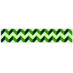 Green Modern Retro Chevron Patchwork Pattern Flano Scarf (Large)
