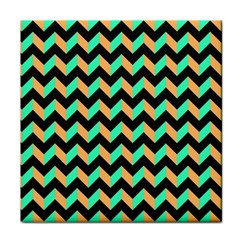 Neon And Black Modern Retro Chevron Patchwork Pattern Ceramic Tile