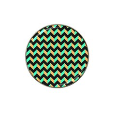 Neon And Black Modern Retro Chevron Patchwork Pattern Golf Ball Marker 10 Pack (for Hat Clip)