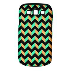Neon And Black Modern Retro Chevron Patchwork Pattern Samsung Galaxy S Iii Classic Hardshell Case (pc+silicone)