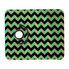 Neon And Black Modern Retro Chevron Patchwork Pattern Samsung Galaxy S  Iii Flip 360 Case