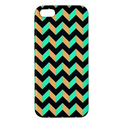Neon And Black Modern Retro Chevron Patchwork Pattern Apple Iphone 5 Premium Hardshell Case