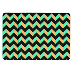 Neon And Black Modern Retro Chevron Patchwork Pattern Samsung Galaxy Tab 8 9  P7300 Flip Case