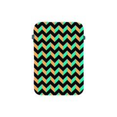 Neon And Black Modern Retro Chevron Patchwork Pattern Apple Ipad Mini Protective Sleeve