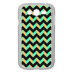 Neon And Black Modern Retro Chevron Patchwork Pattern Samsung Galaxy Grand Duos I9082 Case (white)