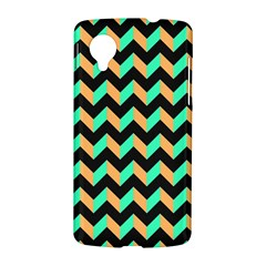 Neon and Black Modern Retro Chevron Patchwork Pattern Google Nexus 5 Hardshell Case