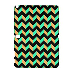 Neon and Black Modern Retro Chevron Patchwork Pattern Samsung Galaxy Note 10.1 (P600) Hardshell Case