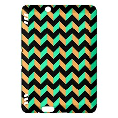 Neon and Black Modern Retro Chevron Patchwork Pattern Kindle Fire HDX Hardshell Case
