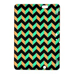 Neon and Black Modern Retro Chevron Patchwork Pattern Kindle Fire HDX 8.9  Hardshell Case