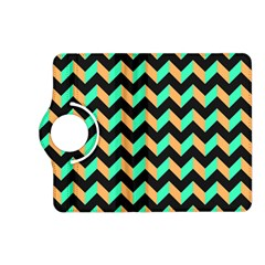 Neon and Black Modern Retro Chevron Patchwork Pattern Kindle Fire HD (2013) Flip 360 Case
