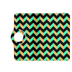 Neon and Black Modern Retro Chevron Patchwork Pattern Kindle Fire HDX 8.9  Flip 360 Case