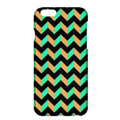 Neon And Black Modern Retro Chevron Patchwork Pattern Apple Iphone 6 Plus Hardshell Case