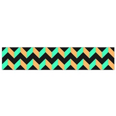 Neon And Black Modern Retro Chevron Patchwork Pattern Flano Scarf (small)