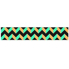 Neon And Black Modern Retro Chevron Patchwork Pattern Flano Scarf (large)