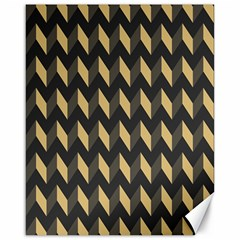 Tan Gray Modern Retro Chevron Patchwork Pattern Canvas 16  X 20  (unframed)