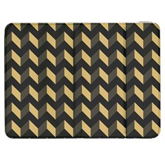 Tan Gray Modern Retro Chevron Patchwork Pattern Samsung Galaxy Tab 7  P1000 Flip Case